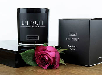 Fleurs de Paris Candle Collection Nuit